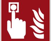 Hinweisschild mit Brandschutzzeichen F005 Brandmelder nachleuchtend