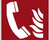 Hinweisschild mit Brandschutzzeichen F006 Brandmeldetelefon nachleuchtend