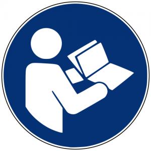 Gebotszeichen M002 Gebrauchsanweisung beachten