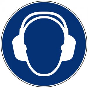 Gebotszeichen M003 Gehörschutz benutzen