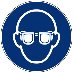 Gebotszeichen M004 Augenschutz benutzen
