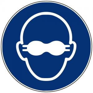 Gebotszeichen M007 Weitgehend lichtundurchlässigen Augenschutz benutzen