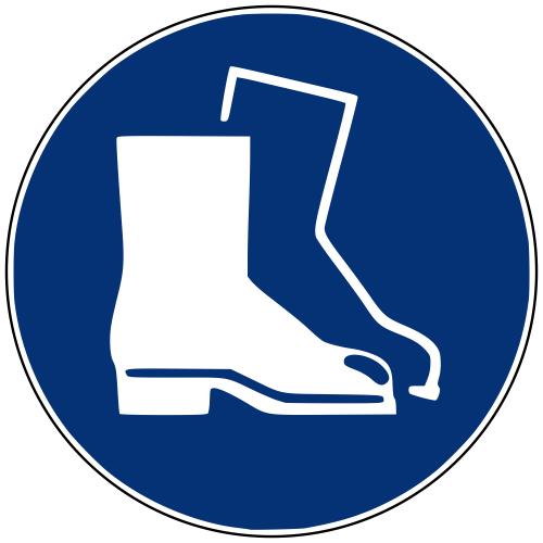 Gebotszeichen M008 Fußschutz benutzen