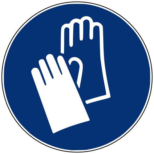 Gebotszeichen M009 Handschutz benutzen