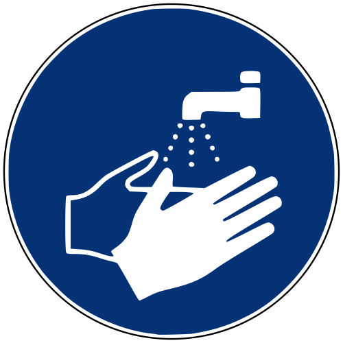 Gebotszeichen M011 Hände waschen