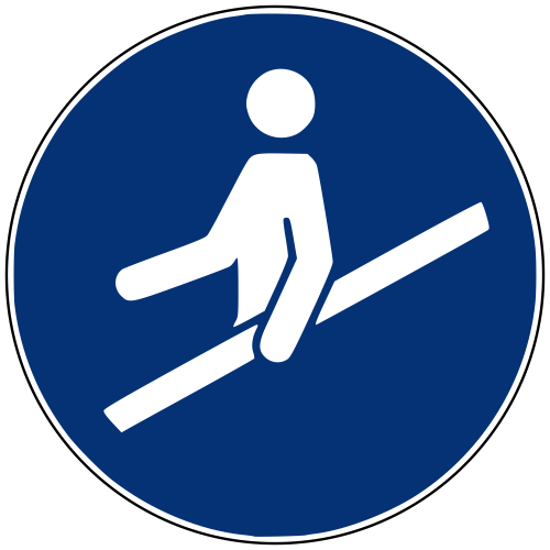 Gebotszeichen M012 Handlauf benutzen