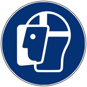Gebotszeichen M013 Gesichtsschutz benutzen