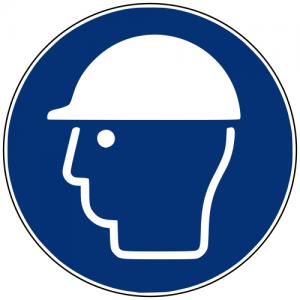 Gebotszeichen M014 Kopfschutz benutzen