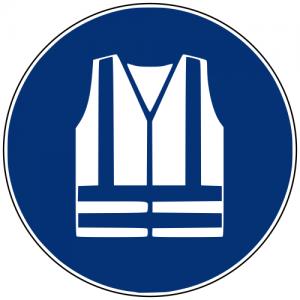 Gebotszeichen M015 Warnweste benutzen