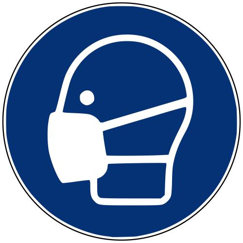 Gebotszeichen M016 Maske benutzen