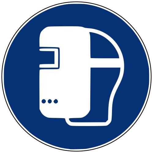 Gebotszeichen M019 Schweißmaske benutzen