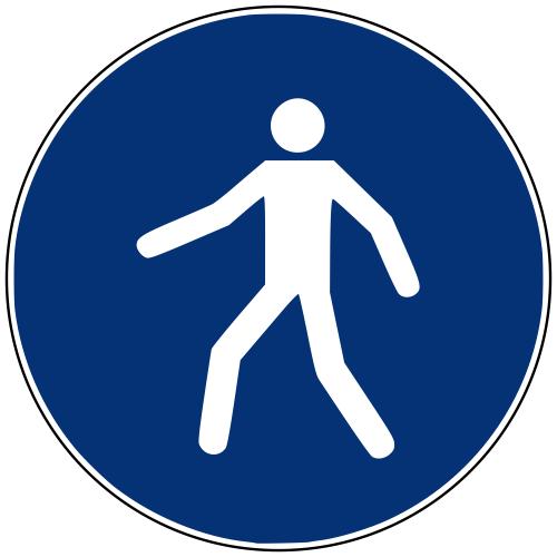 Gebotszeichen M024 Fußgängerweg benutzen