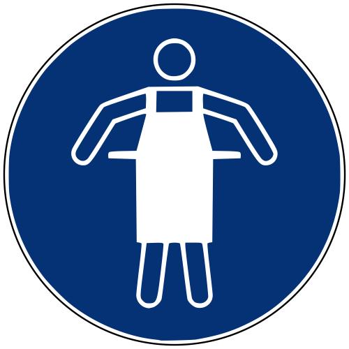 Gebotszeichen M026 Schutzschürze benutzen