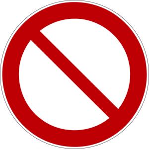 Verbotszeichen P001 Allgemeines Verbotszeichen selbstklebend
