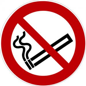 Verbotszeichen P002 Rauchen verboten selbstklebend