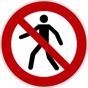 Verbotszeichen P004 Für Fußgänger verboten selbstklebend