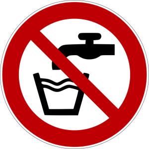 Verbotszeichen P005 Kein Trinkwasser selbstklebend