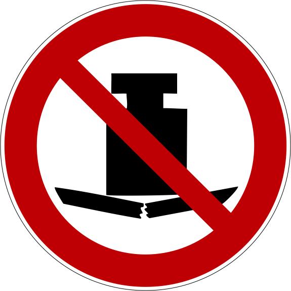 Verbotszeichen P012 Keine schwere Last selbstklebend