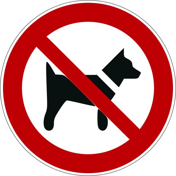 Verbotszeichen P021 Mitführen von Hunden verboten selbstklebend
