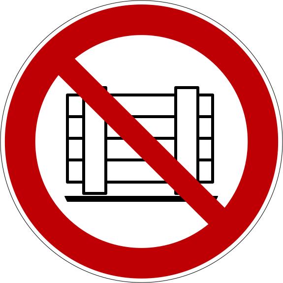 Verbotszeichen P023 Abstellen oder Lagern verboten selbstklebend