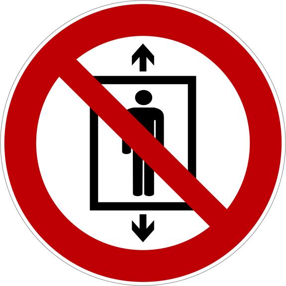 Verbotszeichen P027 Personenbeförderung verboten selbstklebend
