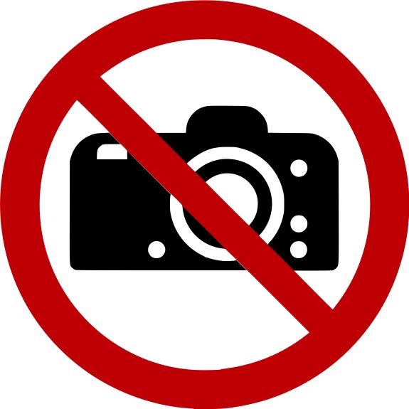 Verbotszeichen P029 Fotografieren verboten selbstklebend