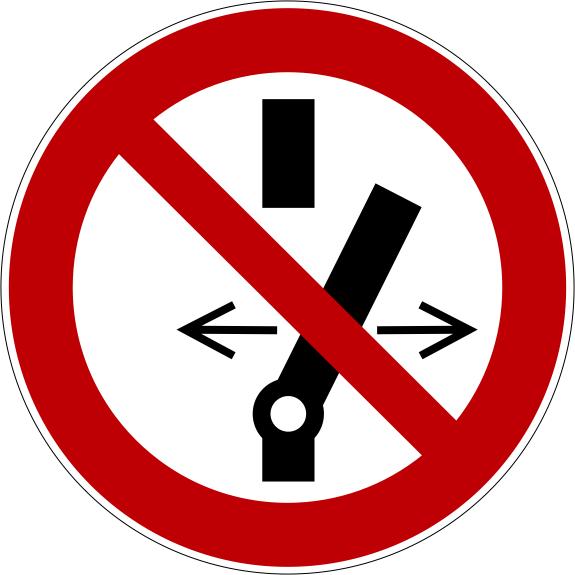 Verbotszeichen P031 Schalten verboten selbstklebend