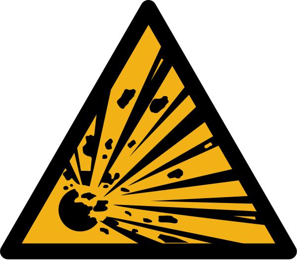 """Warnzeichen W002 """"Warnung vor explosionsgefährlichen Stoffen"""" selbstklebend"""