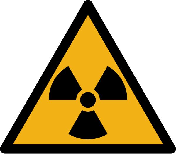 """Warnzeichen W003 """"Warnung vor radioaktiven Stoffen / ionisierender Strahlung"""" selbstklebend"""
