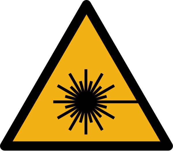"""Warnzeichen W004 """"Warnung vor Laserstrahl"""" selbstklebend"""