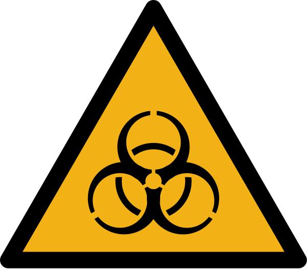 """Warnzeichen W009 """"Warnung vor Biogefährdung"""" selbstklebend"""