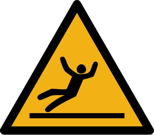 """Warnzeichen W011 """"Warnung vor Rutschgefahr"""" selbstklebend"""