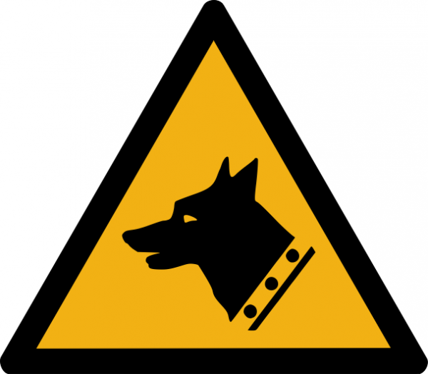 """Warnzeichen W013 """"Warnung vor Wachhunden"""" selbstklebend"""