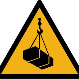 """Warnzeichen W015 """"Warnung vor schwebender Last"""" selbstklebend"""