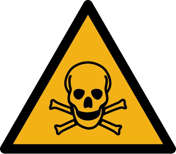 """Warnzeichen W016 """"Warnung vor giftigen Stoffen"""" selbstklebend"""