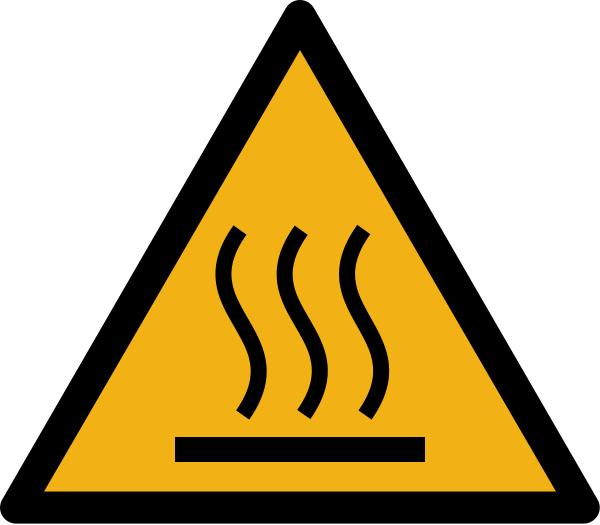 """Warnzeichen W017 """"Warnung vor Warnung vor Hindernissen am Boden"""" selbstklebend"""