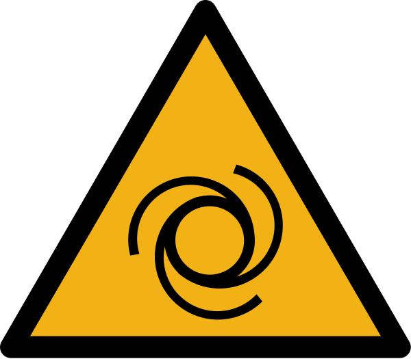 """Warnzeichen W018 """"Warnung vor automatischem Anlauf"""" selbstklebend"""