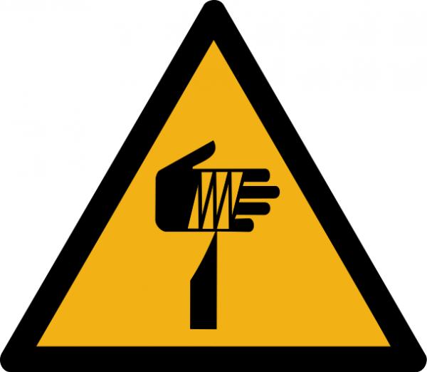"""Warnzeichen W022 """"Warnung vor spitzem Gegenstand"""" selbstklebend"""