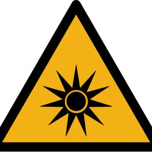 """Warnzeichen W027 """"Warnung vor optischer Strahlung"""" selbstklebend"""