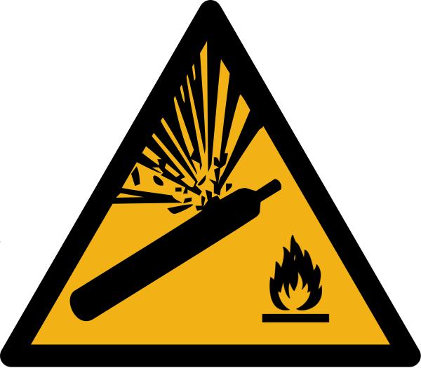 """Warnzeichen W029 """"Warnung vor Gasflaschen"""" selbstklebend"""