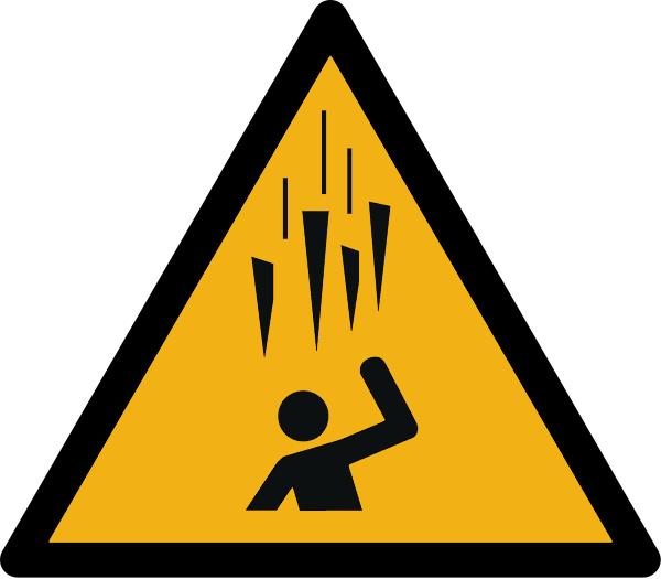 """Warnzeichen W039 """"Warnung vor Eisschlag"""" selbstklebend"""