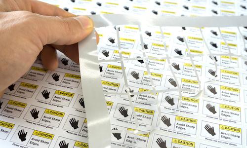 Industrieaufkleber im Digitaldruckverfahren