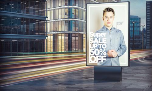 Cityplakat für Modelabel