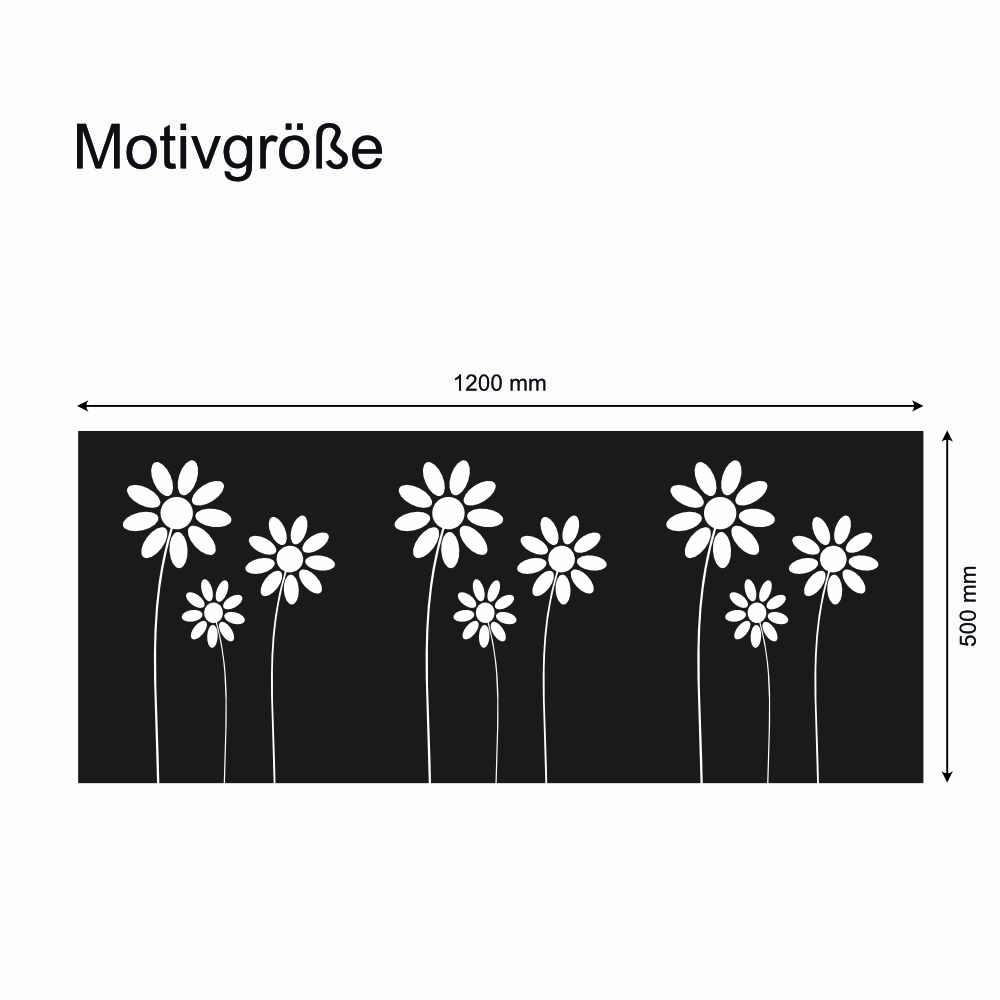 Fensterdekor Sichtschutzfolie Fur Fenster Motiv Blumen 1200 X 500mm