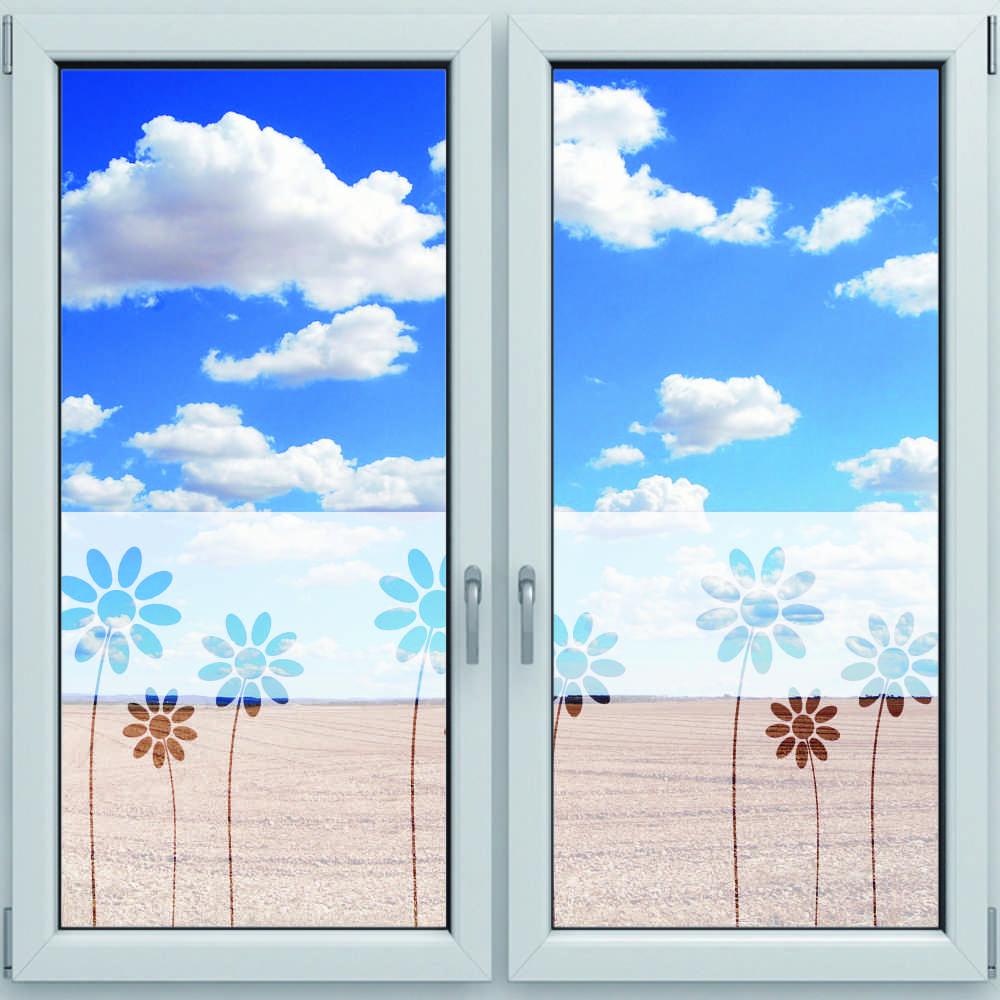 Fensterdekor Sichtschutzfolie Fur Fenster Motiv Blumen 1200 X
