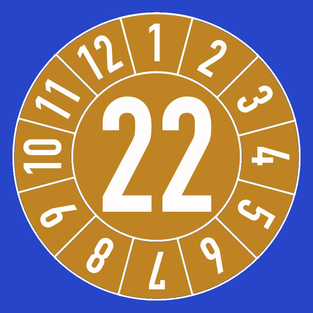 UVV Prüfplaketten Jahresplaketten 2021 blau weiß 30mm DGUV D27 Prüfung BGV 12666