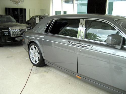 Rolls Royce mit Tönungsfolie hinten